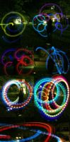 Poi and Staff: Light Show by Risachantag