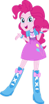 Equestria Girls Pinkie Pie Vector by icantunloveyou