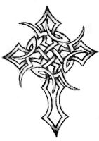 tribal celtic cross tattoo by Danieltiger13