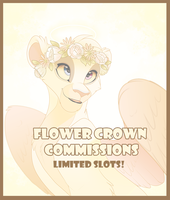 Flower Crown Commissions -CLOSED- by Kitchiki
