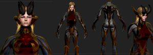 Witchblades Angelus Armor for Skyrim 2 by Zerofrust