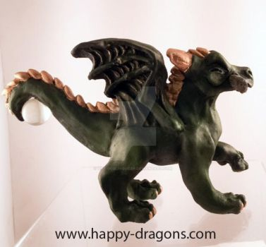 Happy Dragon number 6 Stick! side view by The-GoblinQueen