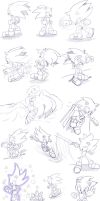 Sonic doodles 2 by AngelofHapiness