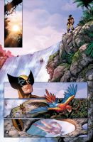 Wolvie on the cascade by PORTELA