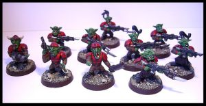 Grot Rebellion Infrantry Squad by Proiteus
