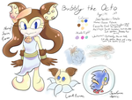 Bubbly the Octo-Character Sheet by FragGrrl