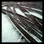 skidmarks in the snow by Mittelfranke