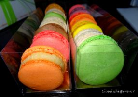 Rainbow Macaroons are Tasty by Cloudwhisperer67