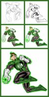 Green Lantern - Hal - Process by GreenArrow