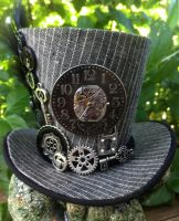 Mini Top Hat - Steampunk Clock Gears by MiniTopHat