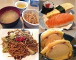 Appetizers, Sushi, Yakisoba, Ice Cream by rcmacdonald