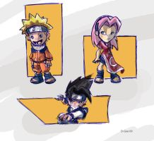 Naruto sketches by D-Gee