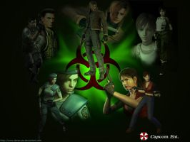 Team Resident Evil Wallpaper by Donaruie