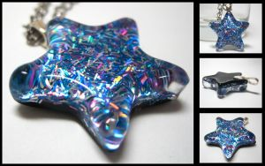 Blue+Purple Star Pendant by ExperienceDesigns