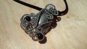 Natural Pyrite Wire Wrapped Pendant Necklace 4 by TheTwistedIngot