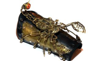 Steampunk Scorpion Bracer by CatherinetteRings