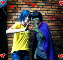 GoRiLLaZ Cosplay For Quere by Hikarulein