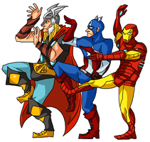 earth's mightiest heroes by ryokage