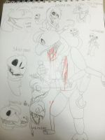 Fan-made nightmare Chica by nyanpheonix101