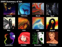 2009 Art Summary by Flynn-the-cat