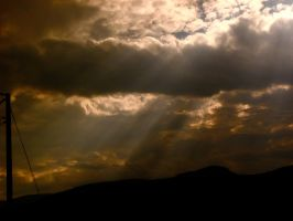 Through the amber rays by Christine-Bean