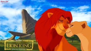 Simba and Nala love at priderock by KovuOat