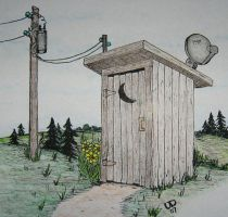 REDNECK OUTHOUSE COLOR by uncledave