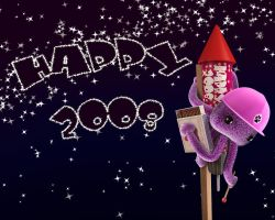Wallpaper Happy 2008 by hoschie