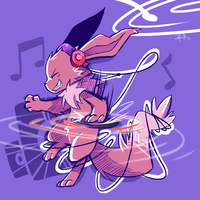 Party Eevee by yassui