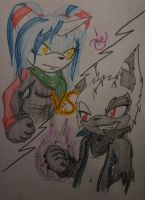 Alotte VS Zack -Comission- by XxSweet-CoffeyxX