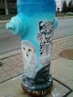 Fire Hydrant Painting by DeannaFancy