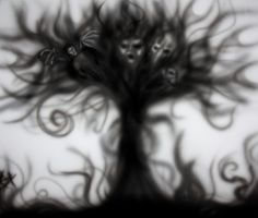 Nightmare tree airbrush sketch by BradAngove