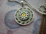Airship Captain's Wheel Necklace by rowan300