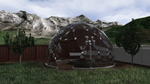 Geodesic Dome with Aquaponics by TekuConcept