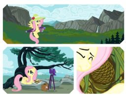 Fluttershy Adams - Art series #3 by janeesper