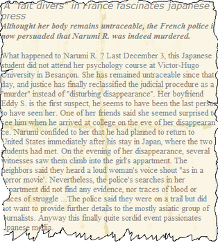 A Japanese girl disappeared - fake article 1 by TiphLaMerveille