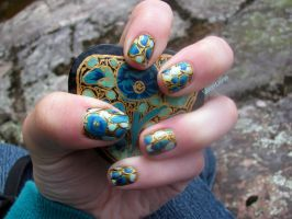 Week 26 Special Pattern Nails by WaterLily-Gems