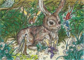 Fairies in the Undergrowth (ACEO) by Keyshe54