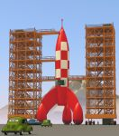 Destination Moon - Tintin -Tribute to Herge by LucienLilippe