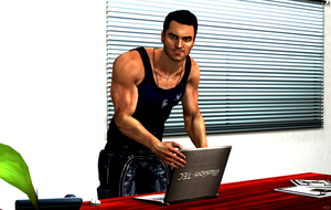 Kaidan Alenko - At The Office by TombRaiderShock