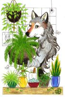 In The Greenhouse by LuthienNightwolf