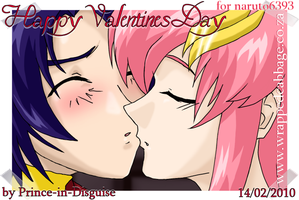 Athrun and Lacus Sweety Kiss by Prince-in-Disguise