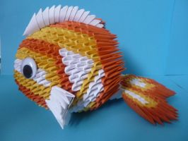 3D origami Koi fish by xxMystic-Heartxx