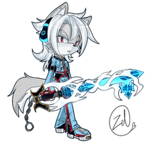 Cypher the Keyblade Wielder by PrototypeTheory