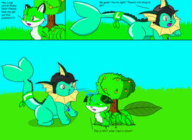 Giving Plant a Helping Hand by Luigirocks84