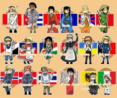 APH chibi nations 2 by Hetalia