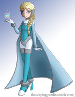 Megaman Zero - Snow Queen Elsa by SleepyManna