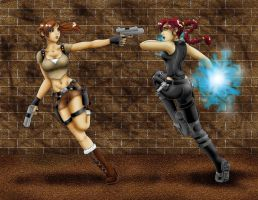 Lara vs Lara by chickiedee