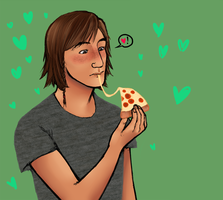pizza is love by honestcakee