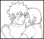 NaruSaku Lineart +Cuddle+ by ShinobiKisses